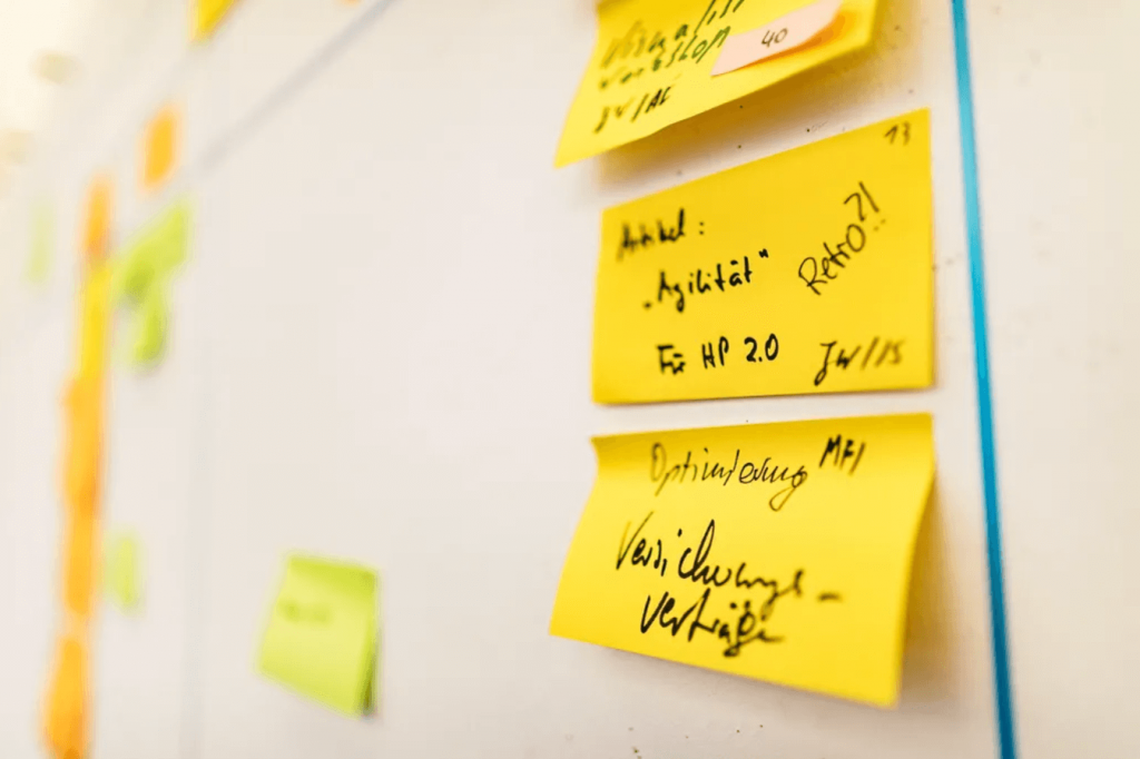 AIP Board mit Stories - wie agile Transformation gelingen kann